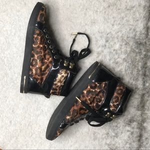 Michael Kors Leopard High Tops
